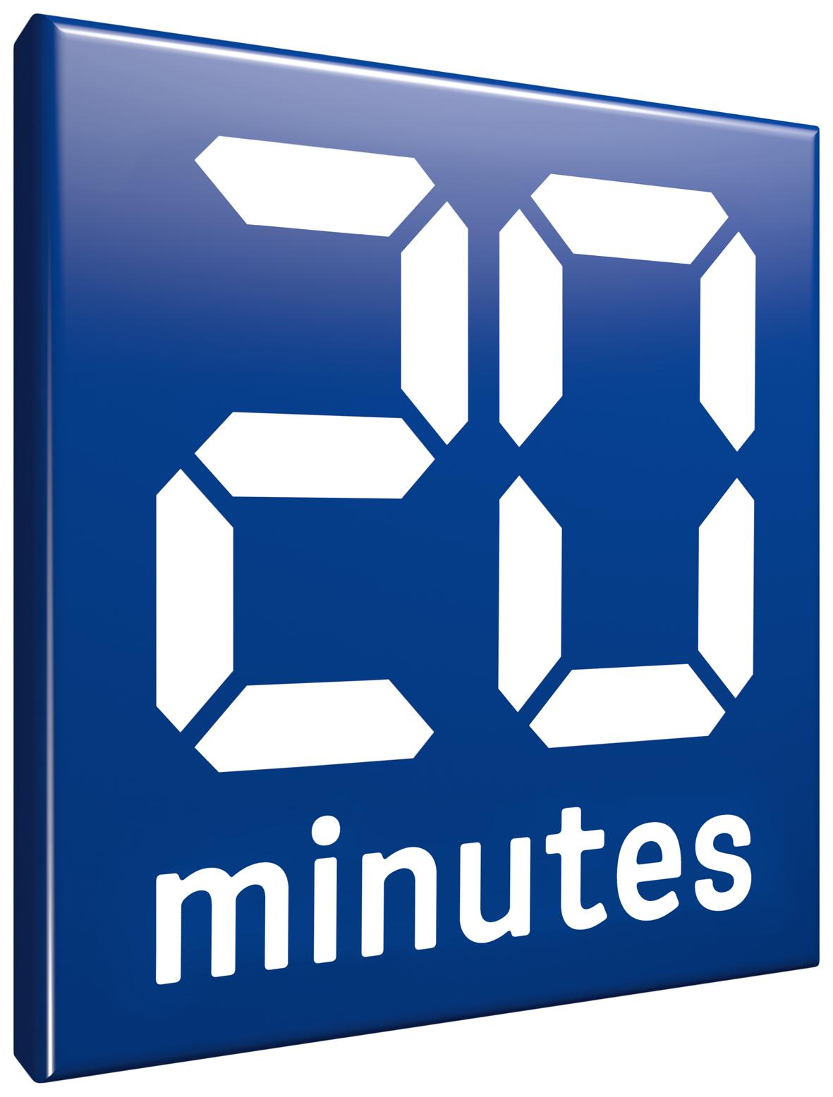 2018 Logo 20 minutes blue